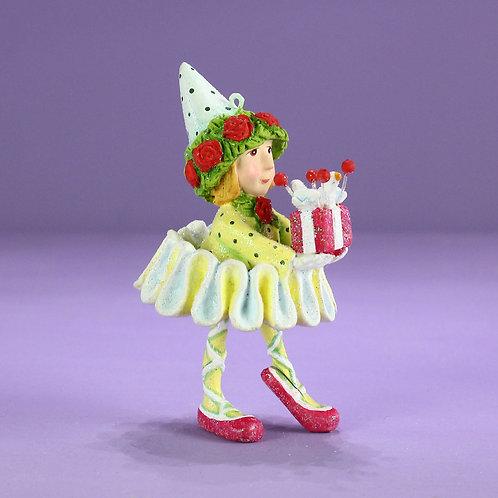 Patience brewster dash away dancer's elf mini ornament