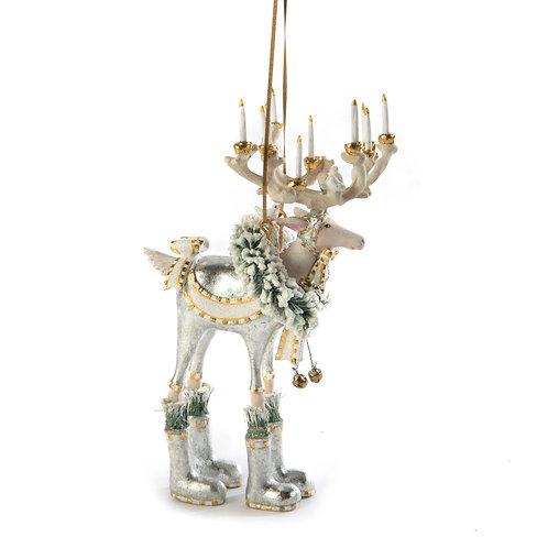 patience brewster moonbeam dasher reindeer ornament