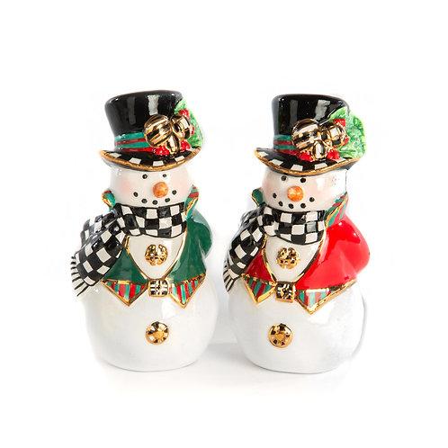 Top Hat Snowman Salt & Pepper Shaker