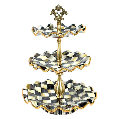 Courtly Check Three Tier Sweet Stand