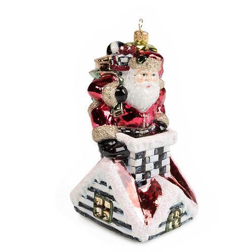 Glass Ornament - Santa's Here