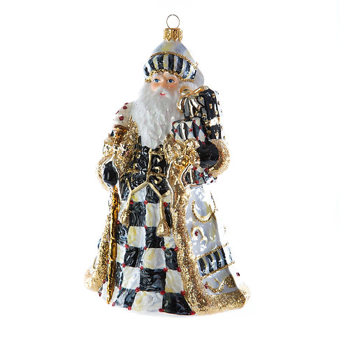 Glass Ornament - Golden Hour Filigree Santa