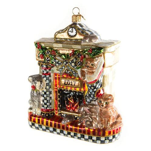 Glass Ornament - Waiting for Santa