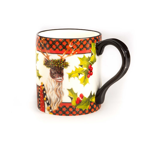 Santa's reindeer mug