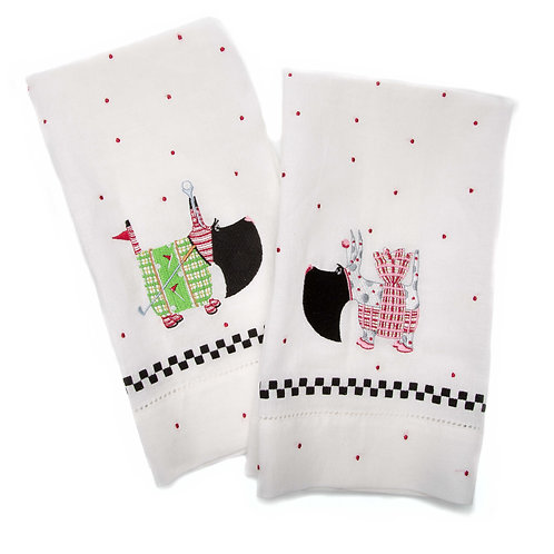 Patience Brewster Scottie Tea Towels - Set of 2