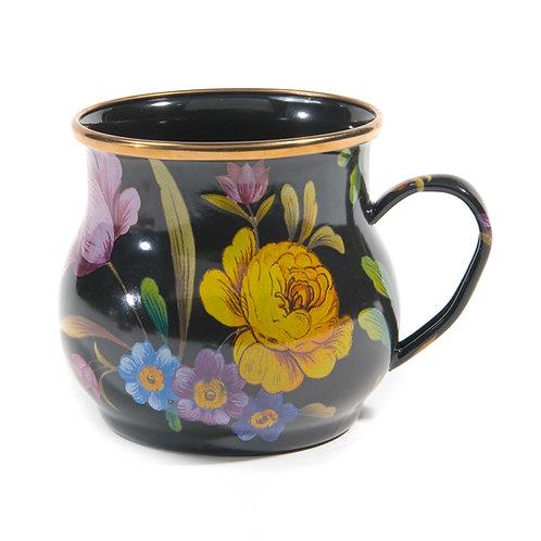 Flower Market Mug - Black