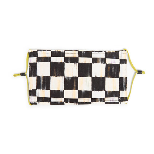Courtly Check Face Mask - Pleated