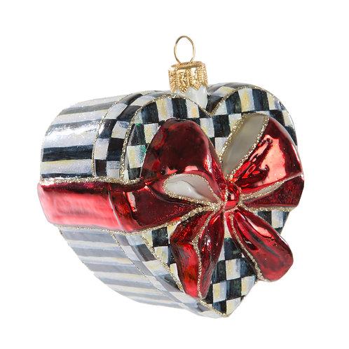 Glass Ornament - Sweetheart Box