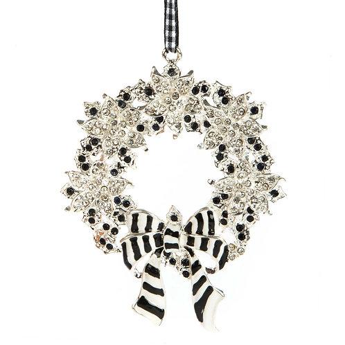 Silent night wreath ornament