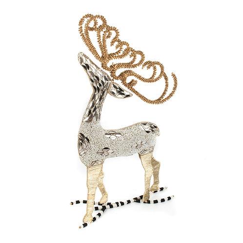 Snowfall Beaded Deer