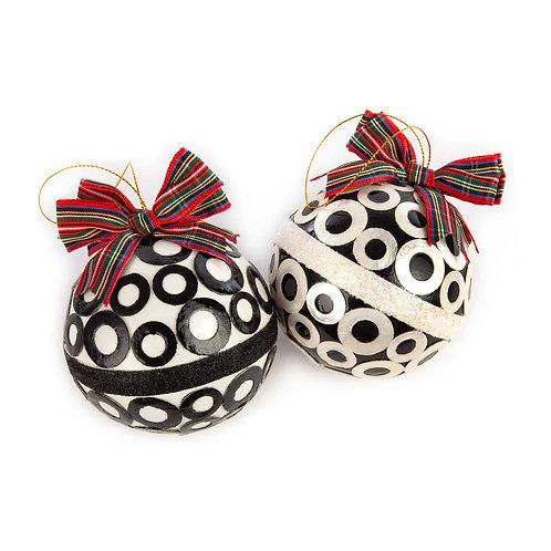 Mod capiz ball ornaments - set of 2