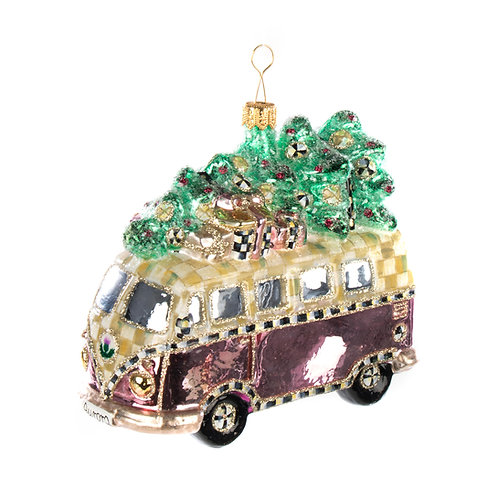 Glass Ornament - Glamp Van