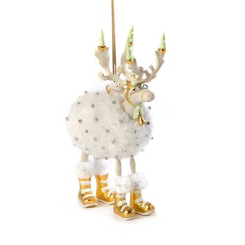 Patience brewster moonbeam blitzen reindeer ornament