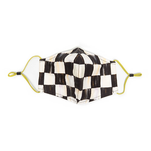 Courtly Check Face Mask - Cone