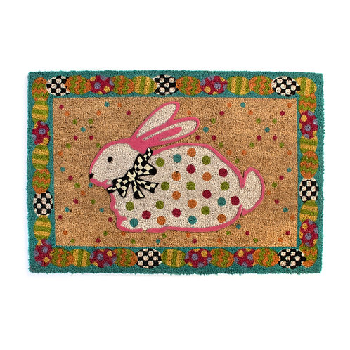 dotty bunny entrance mat
