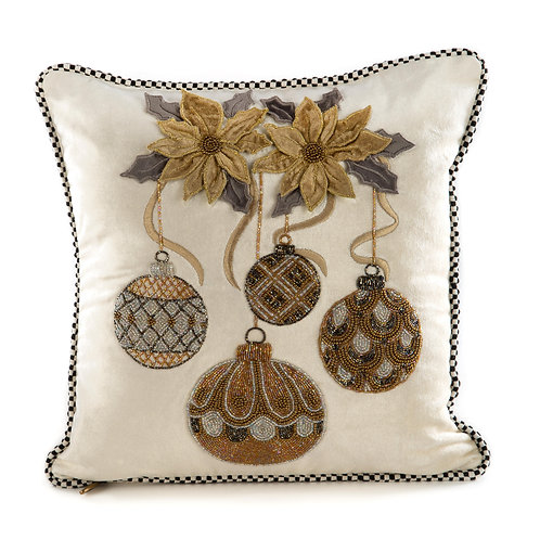 Merriment Ornament Pillow - Ivory