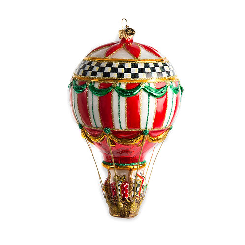 Glass ornament - up, up and away