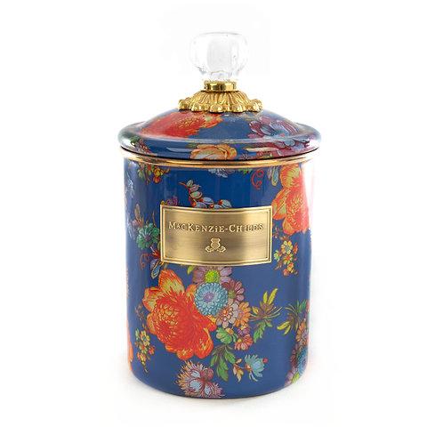 flower market medium canister - lapis