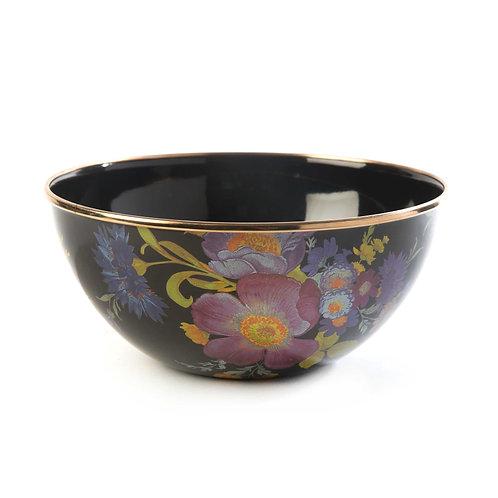 Flower Market Small Everyday Bowl - Black