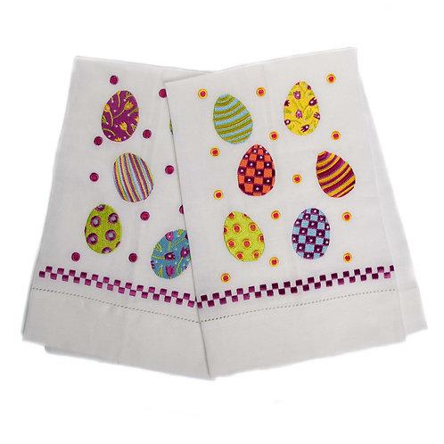 Patience Brewster Technicolor Egg Tea Towels - Set of 2