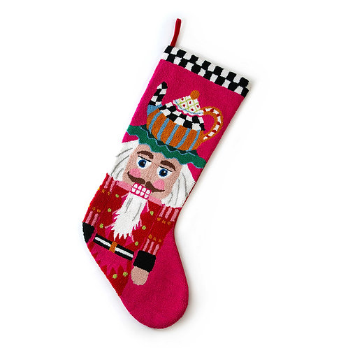 Jumbo teatime nutcracker stocking