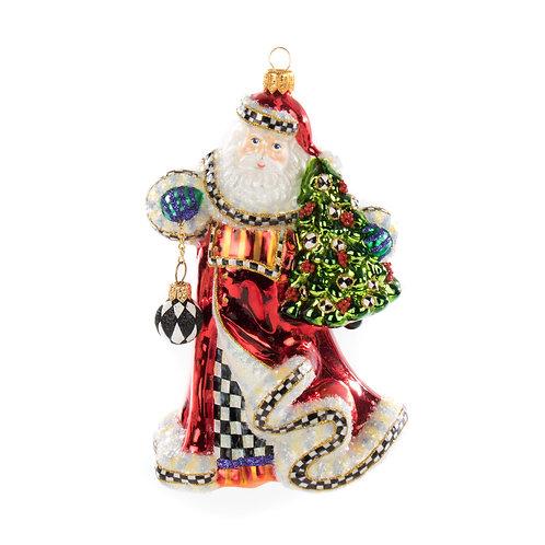 Glass Ornament - 'Tis the Season Santa