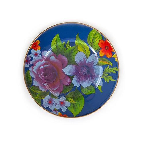 flower market salad/dessert plate - lapis