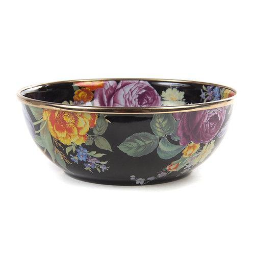 Flower Market Everyday Bowl - Black