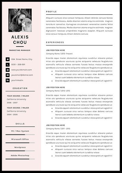 7 Simple Resume Templates 2017