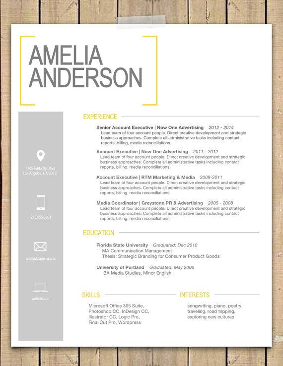 Best visual Resume Templates 2017