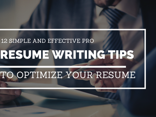 12 Sure Shot Pro Resume Writing Tips to Optimize Your Resume