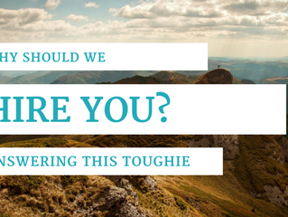 Why should we hire you? Answer this tough interview question.