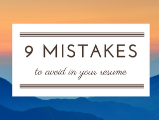 9 Common Mistakes to Avoid While Resume Writing