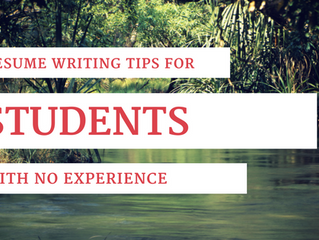 Ingenious Resume Writing Tips for Students with No Work Experience