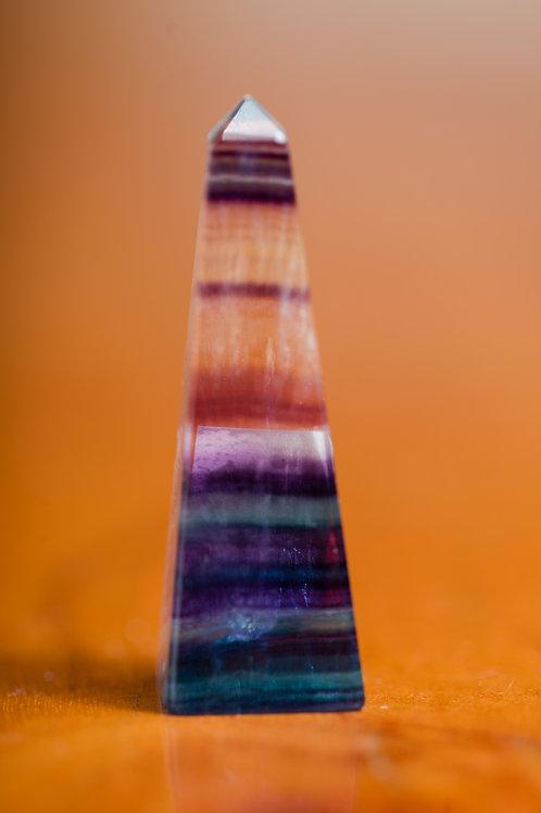 Rainbow Fluorite Obelisk