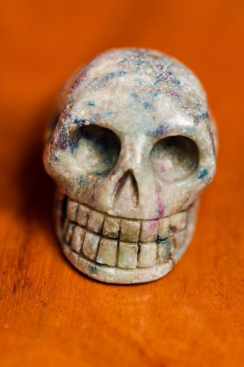 Ruby Fuchsite Skull