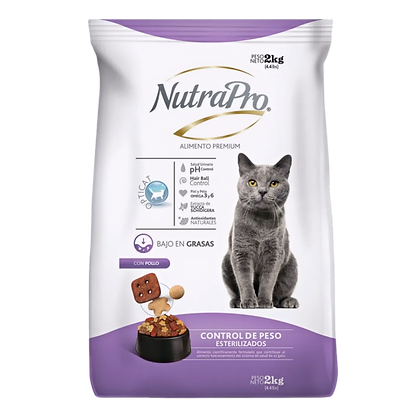 NutraPro Gatos Adultos Esterilizados / Control Peso 2 Kg