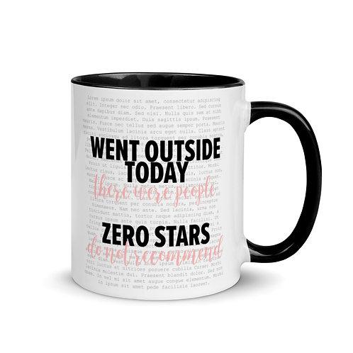 Zero Stars Mug with Color Inside