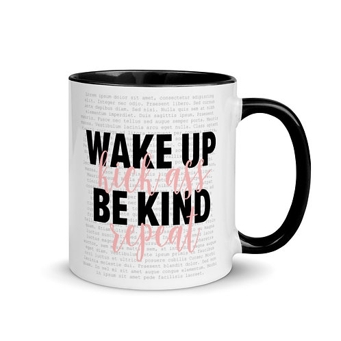 Wake Up Mug with Color Inside
