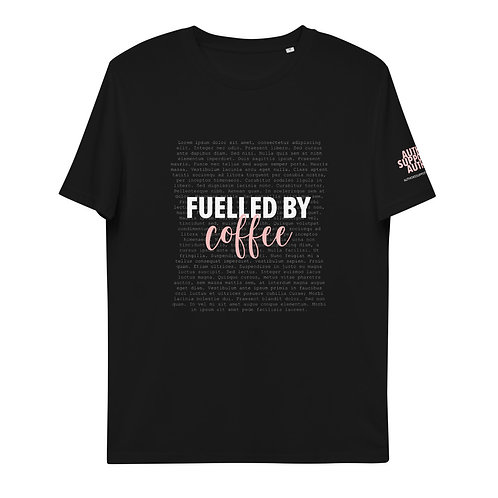 Fuelled by Coffee Unisex organic cotton t-shirt