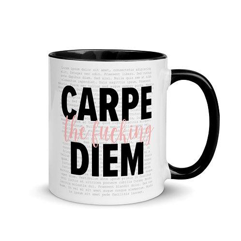 Carpe the f*** Diem Mug with Color Inside