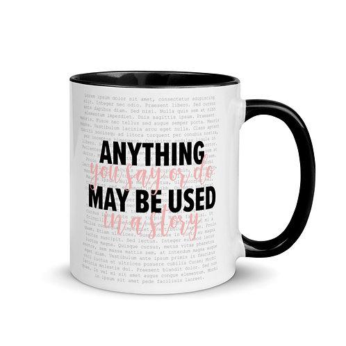 Writer's Caution Mug with Color Inside