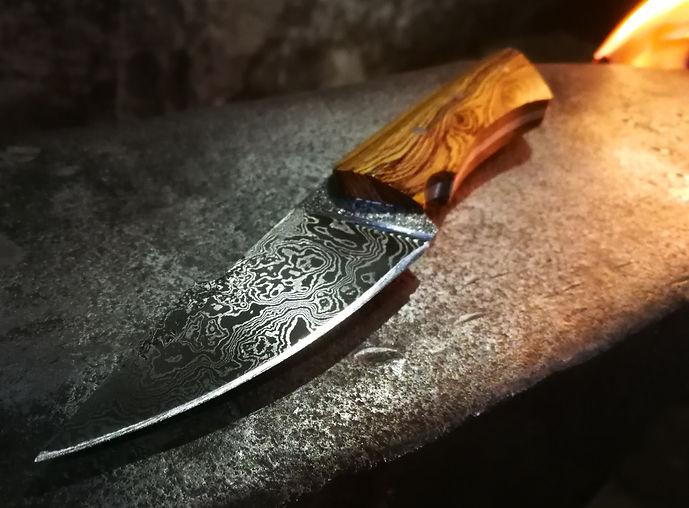 Jagdmesser aus einem Schmiedekurs