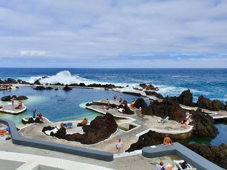 The natural pools at Porto Moniz...