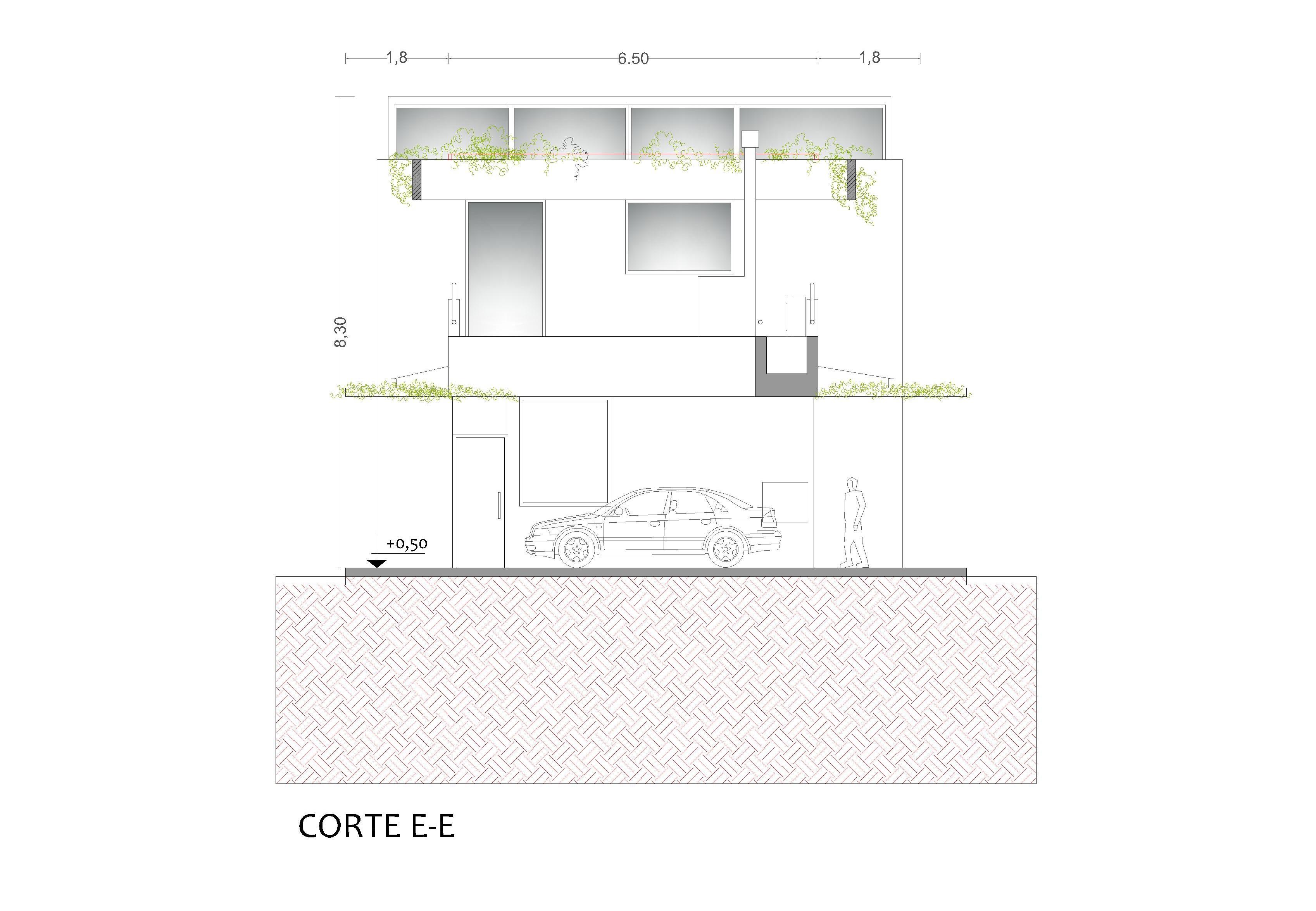 CORTE E-E