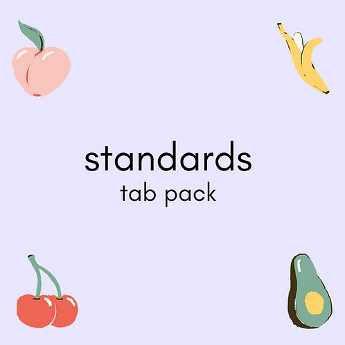 standards - self-titled EP tab pack