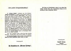 Korrespondenz Meraner Zeitung