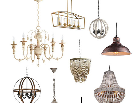 Favorite light fixtures for a Fixer Upper style