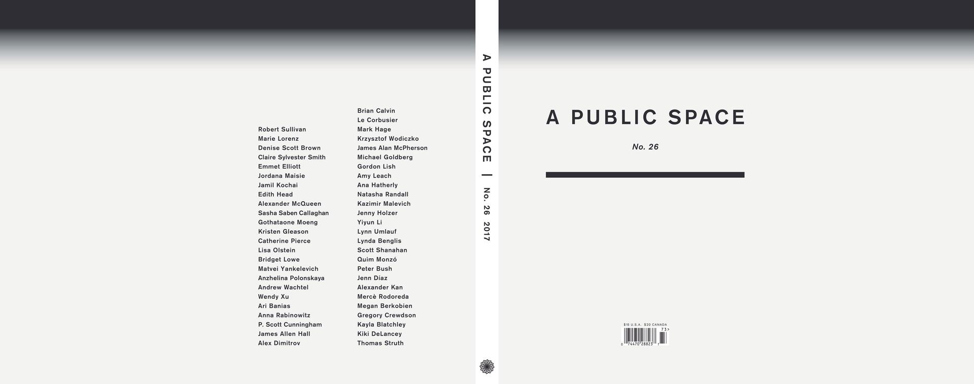 A Public Space 2017 - 2018