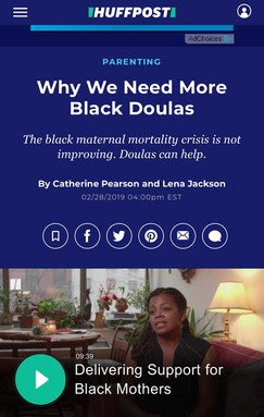 Why We Need More Black Doulas The black maternal mortality crisis is not improving. Doulas can help.